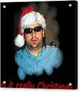 Funny Christmas Card Acrylic Print