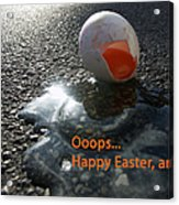 Funny Greeting Card For Easter Acrylic Print
