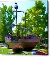 Funplex Funpark Boat 3 Acrylic Print by Lanjee Chee