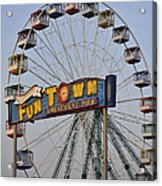 Funtown Ferris Wheel Acrylic Print