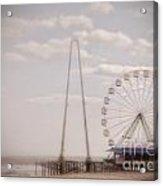 Funtown Pier Acrylic Print