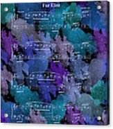 Fur Elise Music Digital Painting Acrylic Print