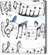 Fur Elise Song Birds Acrylic Print