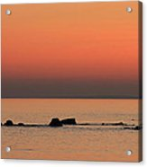 Furbo Beach Sunset Acrylic Print by Peter Skelton