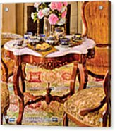 Furniture - Chair - The Tea Party Acrylic Print