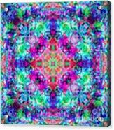 Fushia Rainbow Mandala Acrylic Print