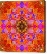 Fushia Yantra Diamond Mandala Acrylic Print