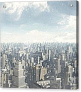 Future City Snow Acrylic Print