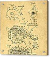 Futuristic Toy Gun Weapon Patent Acrylic Print