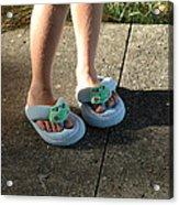 Fuzzy Slippers Acrylic Print