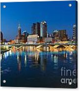 Fx2l472 Columbus Ohio Night Skyline Photo Acrylic Print