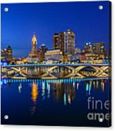 Fx2l530 Columbus Ohio Night Skyline Photo Acrylic Print