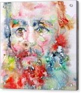 Fyodor Dostoyevsky - Watercolor Portrait.4 Acrylic Print