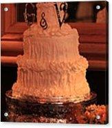 G And V Wedding Cake Acrylic Print