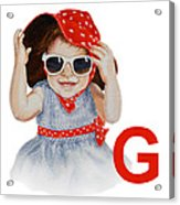 G Art Alphabet For Kids Room Acrylic Print