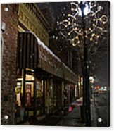 G Street Antique Store In The Snow Acrylic Print