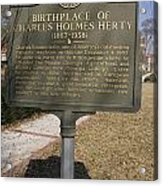 Ga-005-10 Birthplace Of Charles Holmes Herty 1867-1938 Acrylic Print