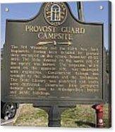 Ga-005-16 Provost Guard Campsite Acrylic Print