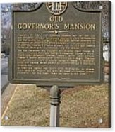 Ga-005-1b Old Governors Mansion Acrylic Print