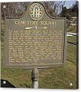 Ga-005-28 Cemetery Square Acrylic Print