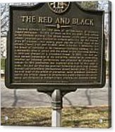 Ga-029-18 The Red And Black Acrylic Print