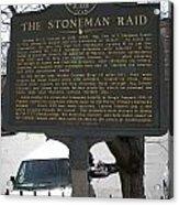 Ga-029-6 The Stoneman Raid Acrylic Print