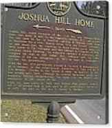 Ga-104-1 Joshua Hill Home Acrylic Print