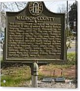 Ga-97-1 Madison County Acrylic Print