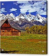 Gable Roof Barn Panorama Acrylic Print