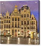 Gabled Buildings In Grand Place Acrylic Print