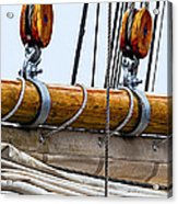 Gaff And Mainsail Acrylic Print by Marty Saccone