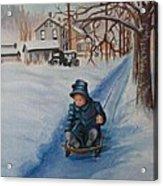 Gails Christmas Adventure Acrylic Print