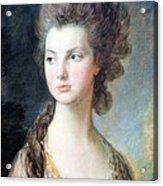 Gainsborough's The Hon. Mrs. Thomas Graham Up Close Acrylic Print