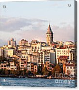 Galata Skyline 01 Acrylic Print by Rick Piper Photography
