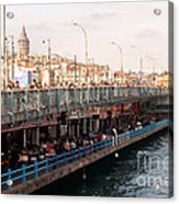 Galata Skyline And Bridge 02 Acrylic Print