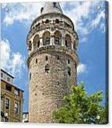Galata Tower Landmark In Istanbul Turkey Acrylic Print