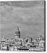 Galata Tower Mono Acrylic Print