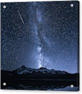 Galaxies Reflection Acrylic Print