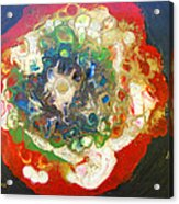 Galaxy With Solar Systems Acrylic Print