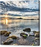 Galiano Sun Star Acrylic Print