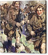 Gallant Piper Leading The Charge Acrylic Print by Cyrus Cuneo