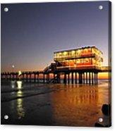 Galveston Fishing Pier 2am-108856 Acrylic Print