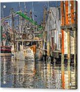 Galveston Shrimp Boats Acrylic Print