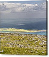 Galway Bay From Abbey Hill  Acrylic Print by Michael David Murphy