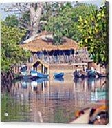 Gambian Fishing Village Acrylic Print