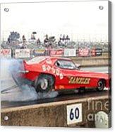Gambler Burns The Track Acrylic Print