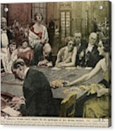 Gamblers At The Tables -  A Winner Acrylic Print