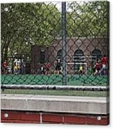 Game Behind The Fence Acrylic Print