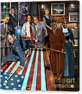 Game Changers And Table Runners P2 Acrylic Print by Reggie Duffie