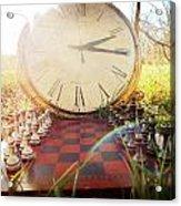 Game Of Chess Acrylic Print